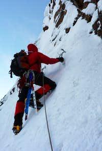 Nevado Churup, the crux pitch