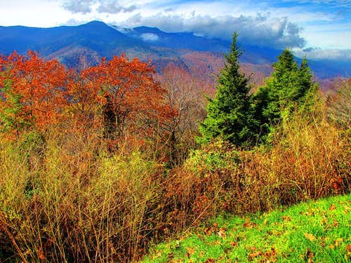 The Black Mountain range from the BRP, Oct. \'09