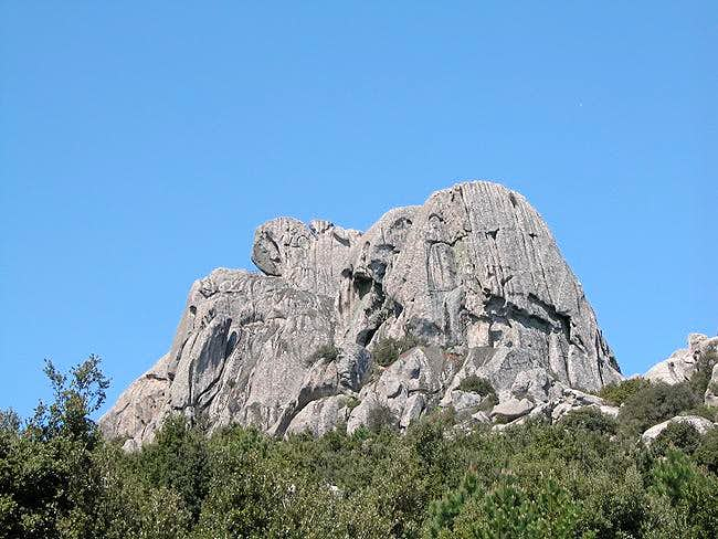 Monte Biancu east face with...
