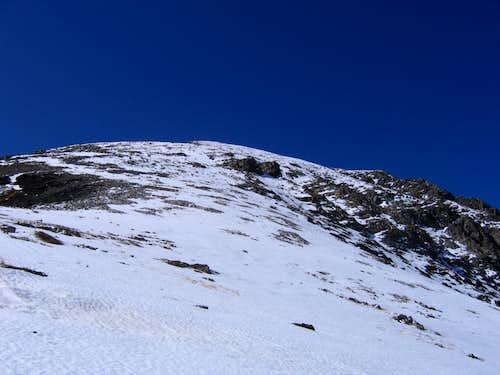 View up East Ridge