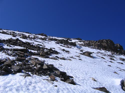 Further up the East Ridge