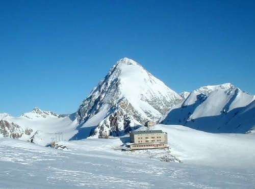 gran zebrù in winter time -...