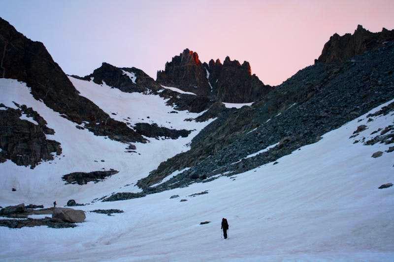 Alpenglow on Mount Woodrow Wilson