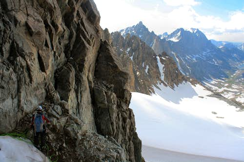 First pitch in the South Couloir