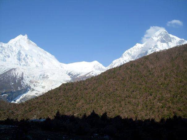 View of Himalayas...