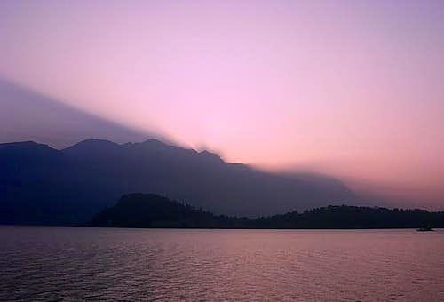 Grignone at sunrise