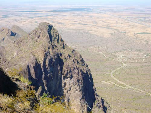 """Razorback Ridge"" from Picacho Peak"