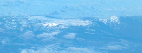 Karkonosze from the plane