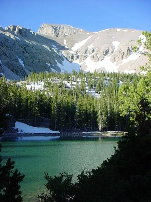 Teresa Lake with Wheeler Peak...