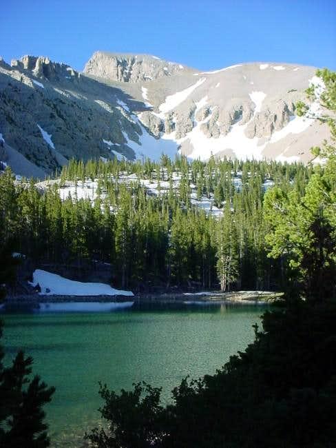Teresa Lake with Wheeler Peak...
