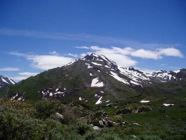 Looking at the north ridge of...