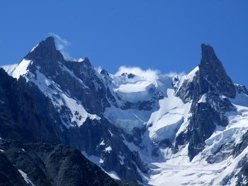 Dent du Geant and ridge