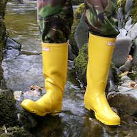My Yellow Hunter wellingtons