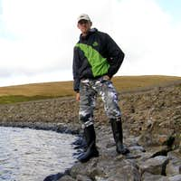 Me in my Black Hunter wellingtons at Fruid Reservoir