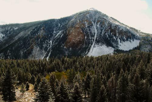 Bunsen Peak Seen From the Howard Eaton Trail on Terrace Mountain