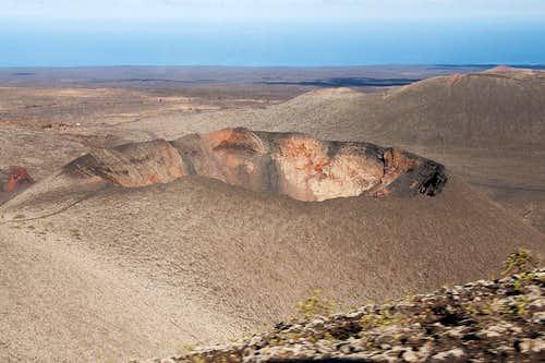 Crater at the edge of Montaña Timanfaya