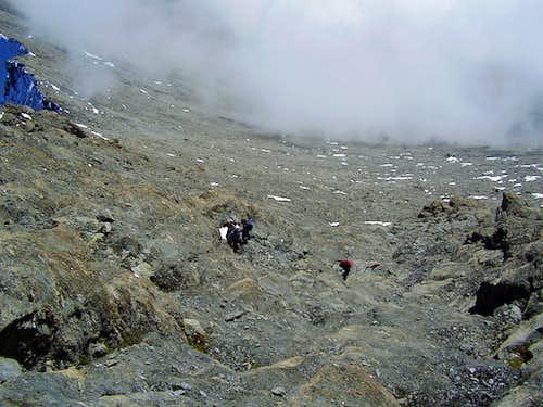 Last steps just under the summit