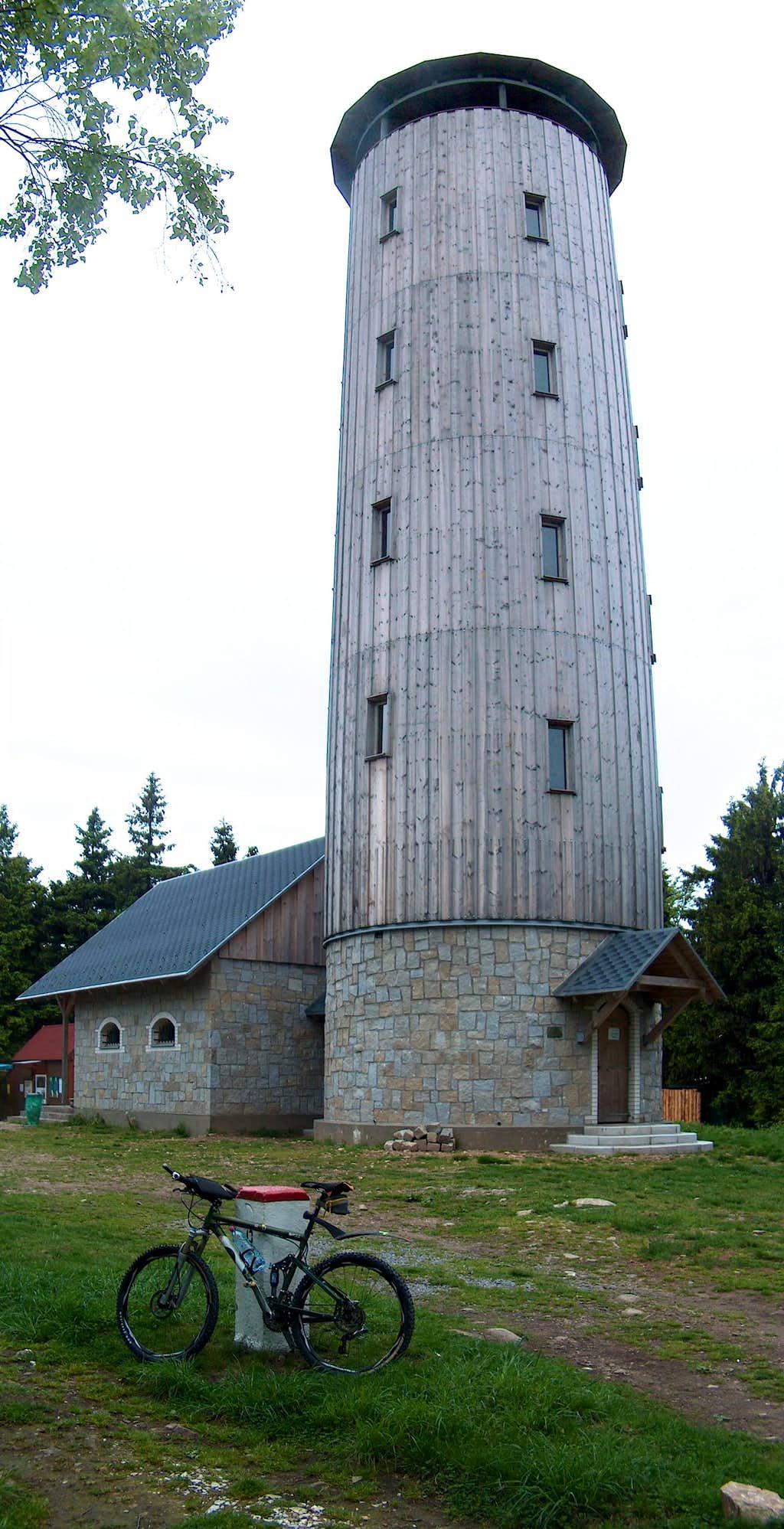 The tower on top of Borůvková Hora