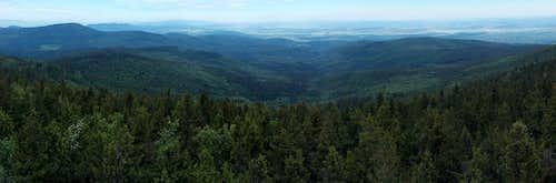 North panorama from Borůvková Hora