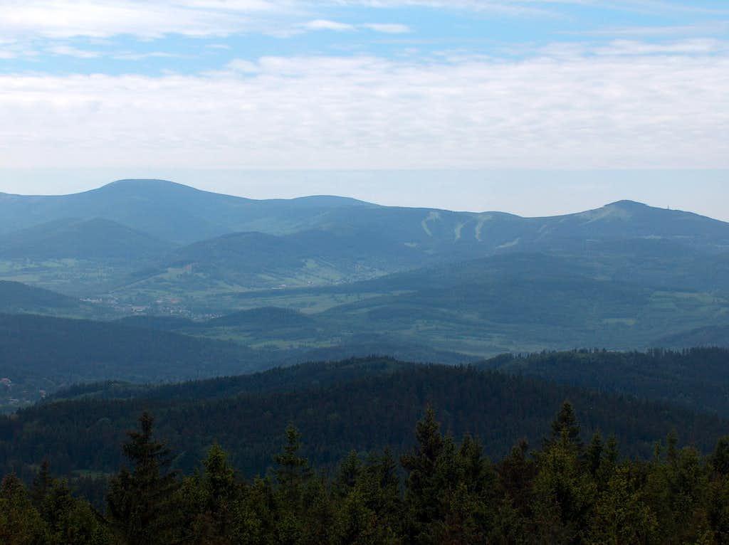 Czarna Góra and Śnieżnik from Borůvková Hora
