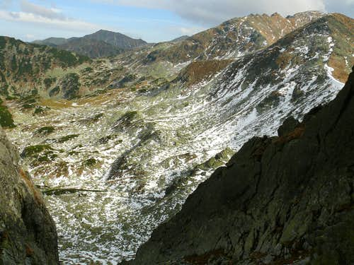 View from NE couloir of Bucura II