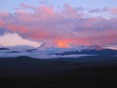 Lassen at dusk from a view...
