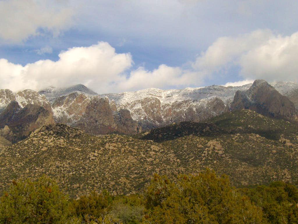 Sandia Snowfall October 2009