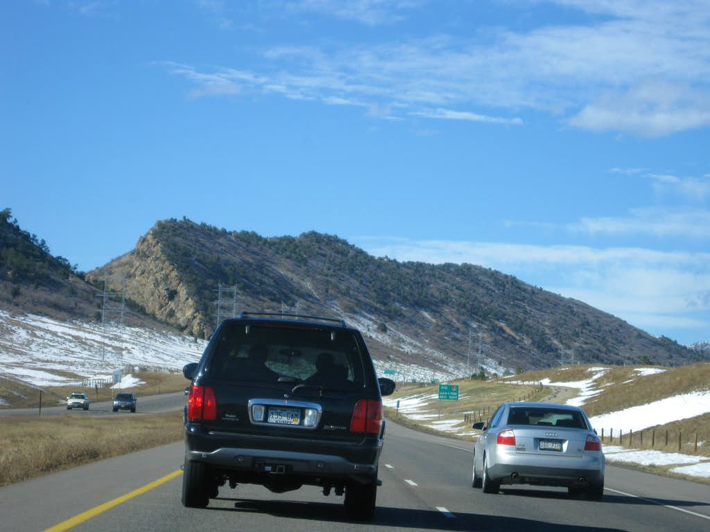Driving to Mount Glennon on US 470