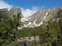 Hallet and Flattop from Dream Lake