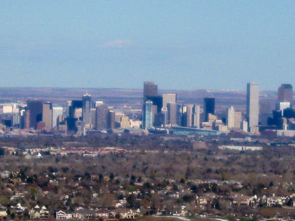 Denver, CO from summit of Mount Glennon