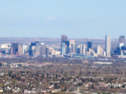 Denver, CO from summit of Mount Glennon
