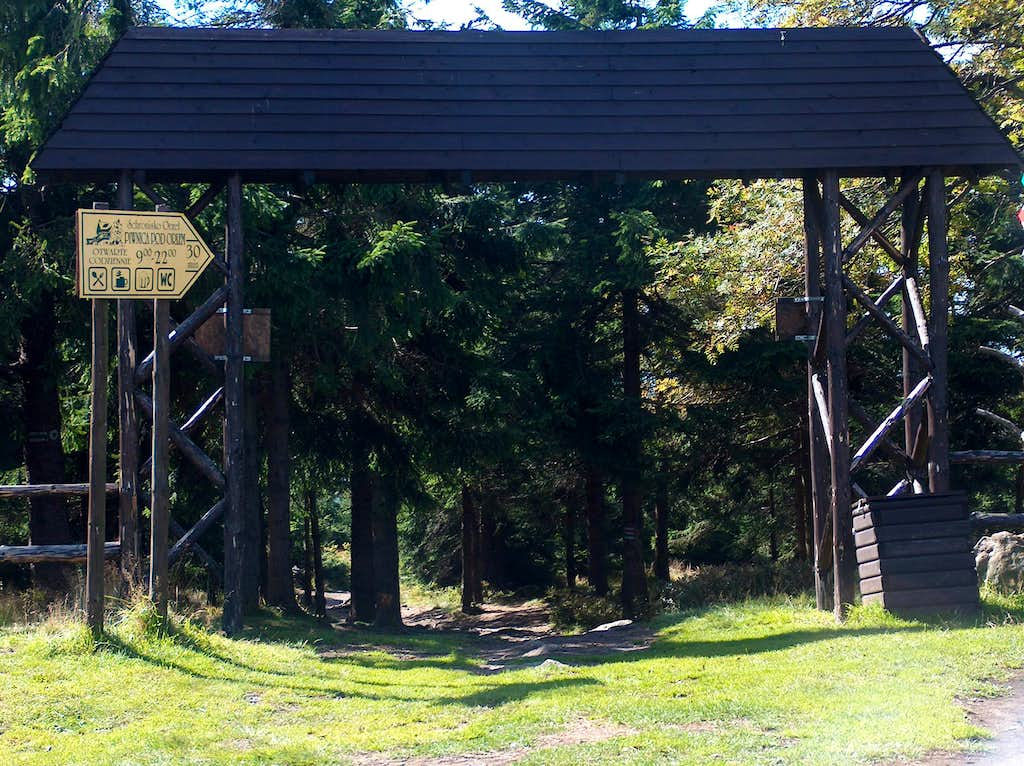 The wooden gates on the top of Wielka Sowa