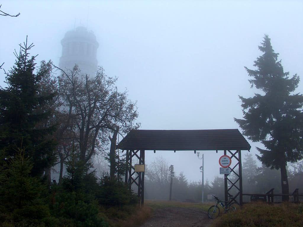 Misty Wielka Sowa from Przełęcz Walimska (Srebna Droga)