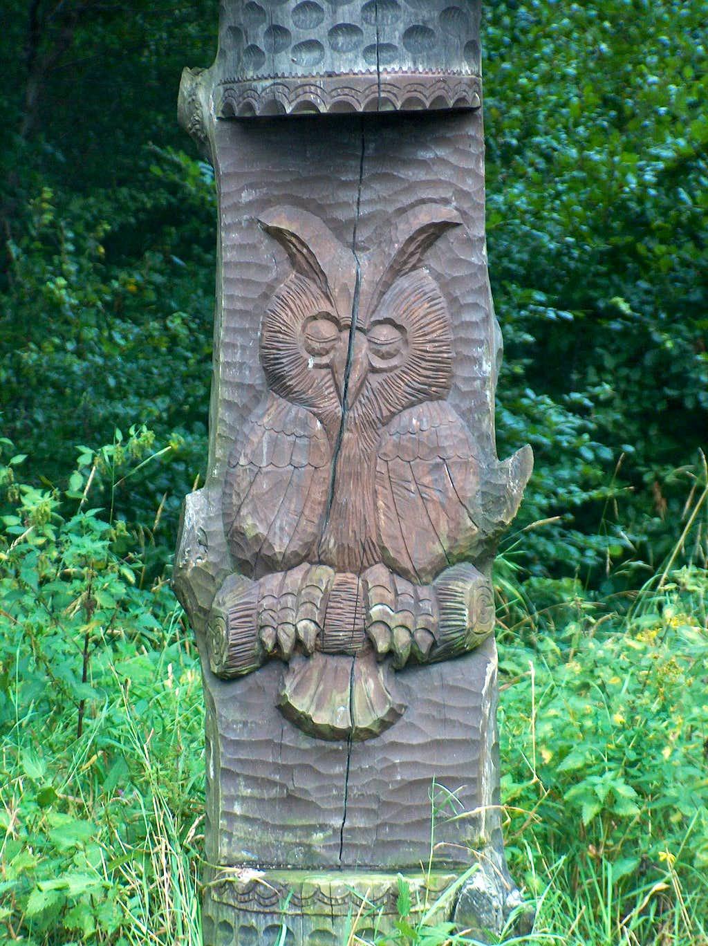 Wielka Sowa's Owl statue