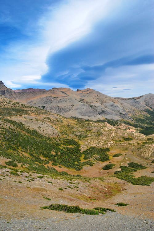 looking north from Firebrand Pass