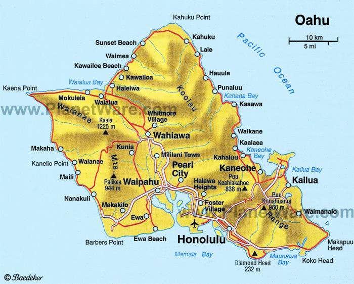 Oahu  Map  Photos Diagrams Amp Topos  SummitPost