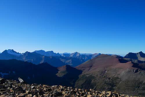 view northewst from Apikuni Mountain