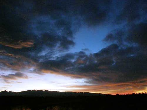 San Gabriels Sunset