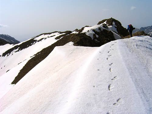 Point 4010 m, NW Face