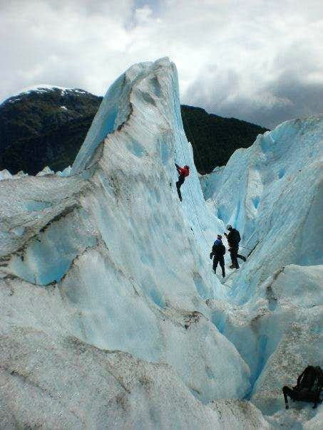Ice Climbing on the Exploradores Glacier
