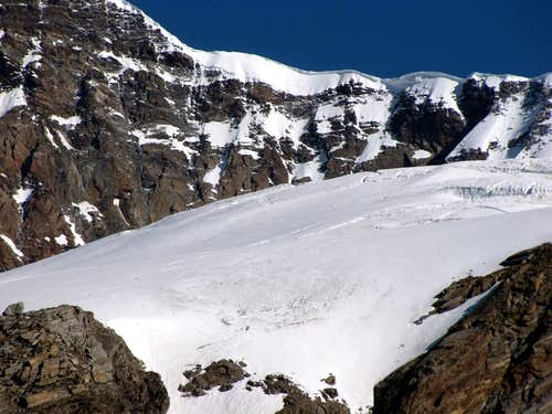 Glaciers of the Rosa Mountain