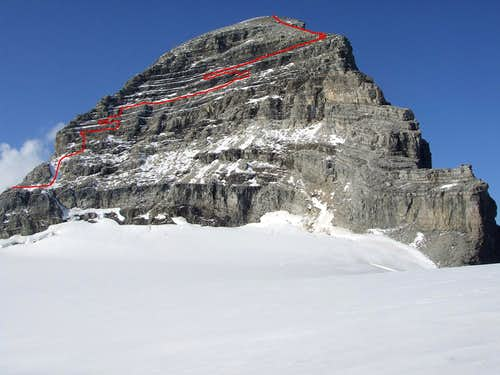 SW face of Mount Sir Alexander