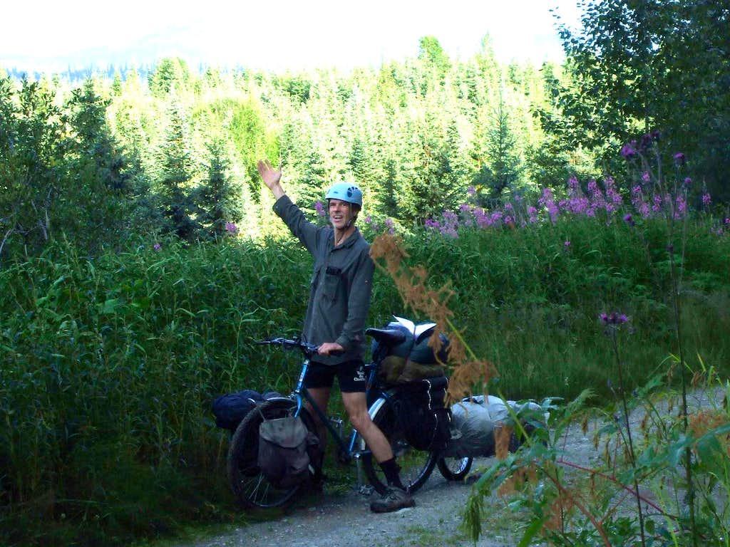 Mountain bike and trailer