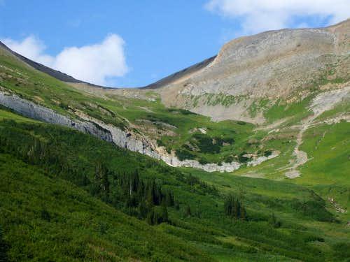 Pass Northwest of Pommel Mountain