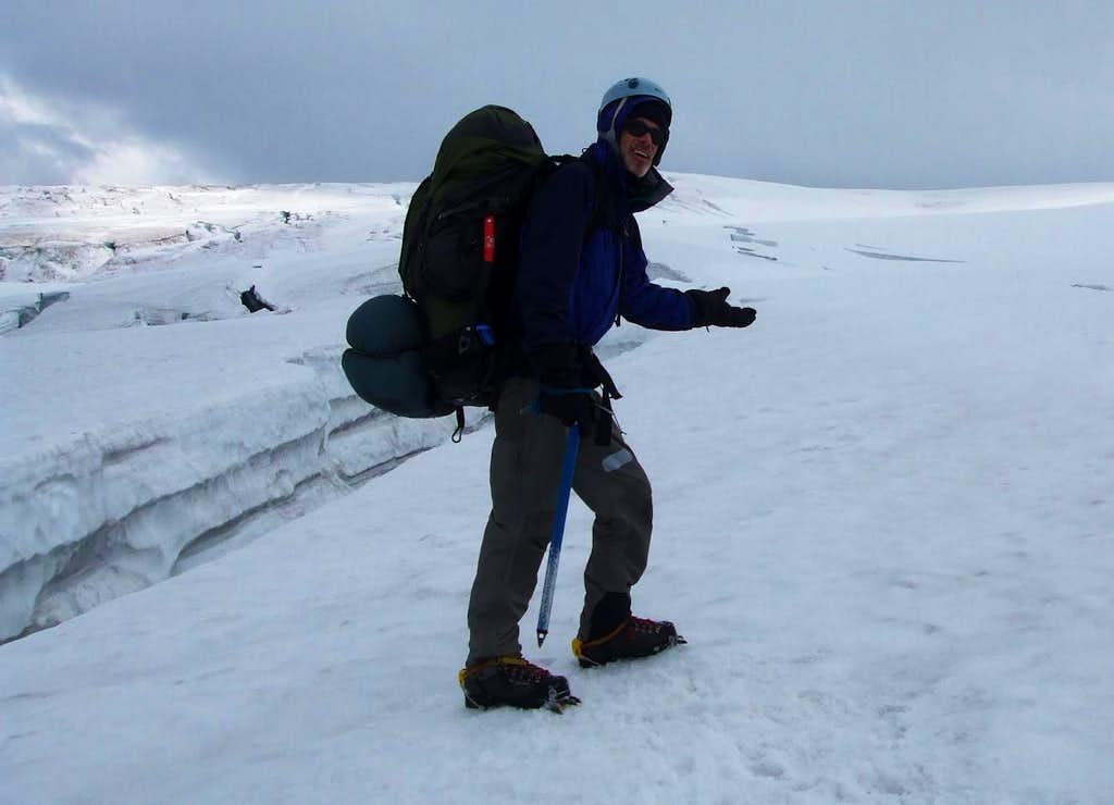 Lumbering up the icefield