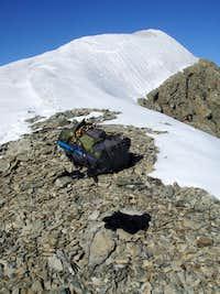 Icy summit ridge of Mount Sir Alexander