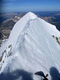 Looking NE on the summit ridge