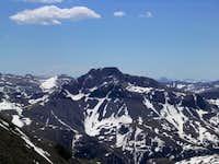 Looking southeast at Half Peak.