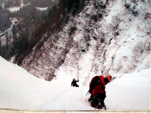 Finishing 2nd Pitch on Chop Gully