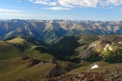 San Juans from Uncompahgre Peak